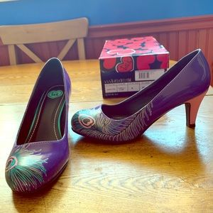 T.U.K. Prpl/pnk Peacock Anti pop heel